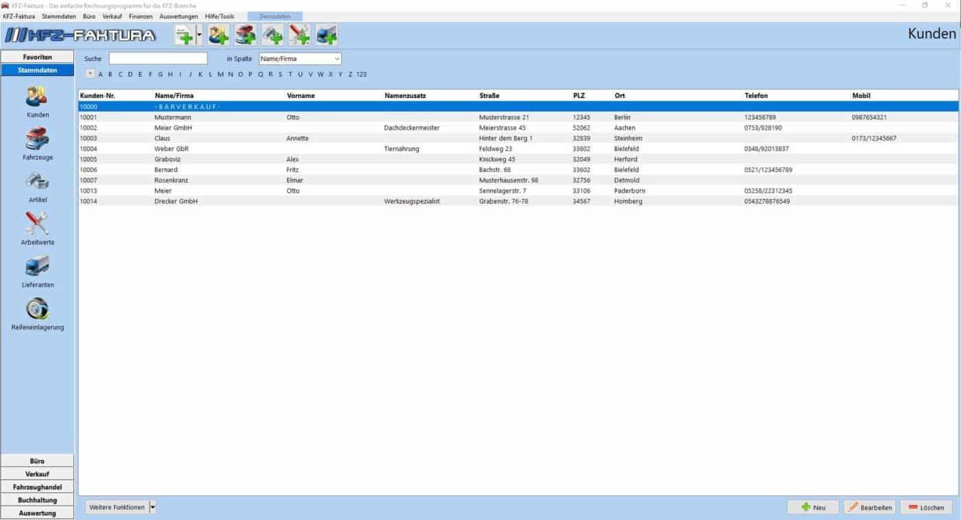 Kfz Faktura Rechnungsprogramm Für Die Kfz Betriebe Kfz Software